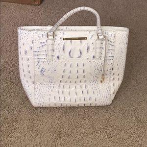 White Brahmin Alligator skin purse
